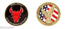 ARMY RED BULL 34TH INFANTRY ATTACK EAGLE FLAG  DIVISION CHALLENGE COIN