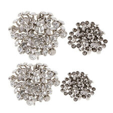 100pcs Rhinestone Rivets Studs Buttons for Dress Clothes Bracelet Bag Crafts