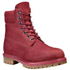Timberland Hombre Premium 6 Pulgadas Botas de Cuero Clásico Rojo/Burdeos A1QYG