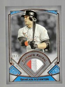 GIANCARLO STANTON 2017 17 TOPPS MUSEUM COLLECTION PATCH RELIC #ED 25/35