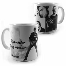 REMEMBER GEORGE MICHAEL 1963-2016 RIP TRIBUTE MUG CUP GIFT PRESENT MEMORABILIA