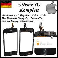 iPhone 3G Touchscreen Digitizer mit Rahmen komplett Scheibe Mittelrahmen Frame