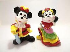 2Pc Disney Japan Vintage Mickey Minnie Mouse Ceramic Porcelain Pottery Figure