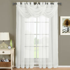 Elegant Abri Crushed Sheer Curtain Panel with Modern Grommets (Single)