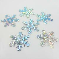 15g HOLOGRAPHIC SNOWFLAKE or LEAF SEQUINS *3 SIZES* EMBELLISHMENTS SEWING CRAFTS