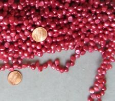 "Fresh Water Pearls Beads Tip Drill Potato Briolet 5x7mm approx Red Coral 16"" str"