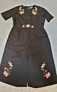 ❤️ ASOS Occasion Short Sleeve Wide-Leg Jumpsuit Black Size 22 Buy7=FreePost L780