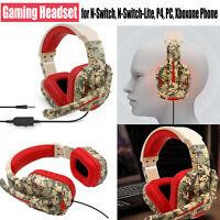 Gaming Auriculares Headphone Con Mic Para Gaming Switch PS4 PC Reducción Ruido