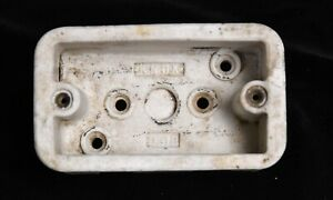 VINTAGE KNOX 8318  CERAMIC ELECTRIC WIRE SWITCH INSULATOR  BOX