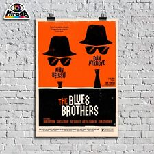 POSTER LOCANDINA VINTAGE FILM THE BLUES BROTHERS MOVIE CINEMA QUALITY GRAPHICS