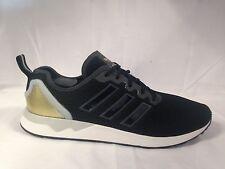 Adidas ZX Flux Adv Mens Trainers Sneakers Black/Gold/white UK 9.5 Eur 44 BNIB