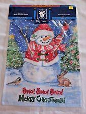 The Flagcenter SNOWMAN MERRY CHRISTMAS Garden Flag 13 x 18  NEW