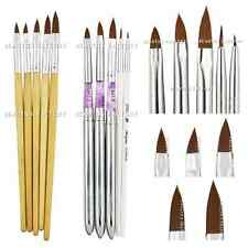 10X New Acrylic 3D Painting Drawing UV Gel DIY Brush Pen Tool Nail Art #165#411