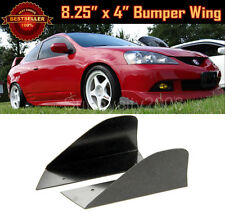 "Pair 8.25"" x 4"" Black Front Bumper Lip Splitters Winglet Blade For Mazda Subaru"