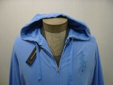 Polo Ralph Lauren Big Pony M Full Zip Mens Hoodie Hooded Sweatshirt Shirt Blue