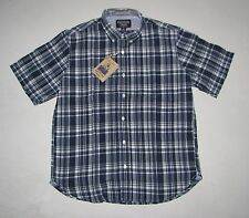 NWT Mens THE NEW IVY BRAND Various Plaid 100% Cotton Short Sleeve Shirt M L