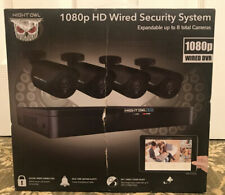 Night Owl 8-Channel 1TB DVR Security Camera System, 4 Wired 1080p HD Cameras NEW