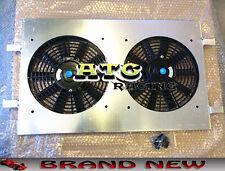 Aluminum Radiator Shroud + 12' 'Fans for Holden Commodore VZ LS1 LS2 SS V8 AT/MT