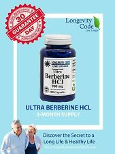BERBERINE HCI - 900 mg, 180 capsules Anti Aging   3-Month Supply Longevity Code
