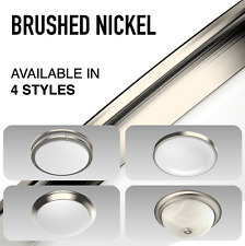 LED Ceiling Light Fixture Brushed Nickel Silver Round Flush Mount Perfect Bright