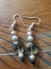 USA Handmade  Earrings stone glass