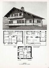 74 MEGEVE PLAN DE CHALET ARCHITECTE LE MEME IMAGE 1967 PRINT