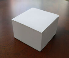"Blank Note Paper Cubes - *12 Total Cubes*- Glued On 1 Side - 3 1/2"" x 3 1/2"""