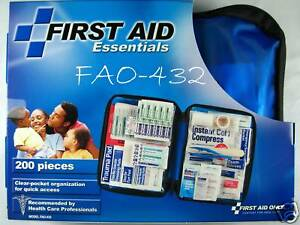 200 pc Emergency First Aid Kit W/Soft Case FAO-432