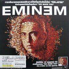 "EMINEM ""RELAPSE"" PROMO POSTER FROM THAILAND - Rap Music Legend!"