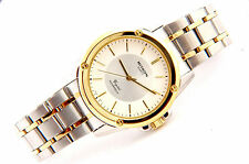 Dress Watch with White & Gold Dial  Two tone Color Water Proof