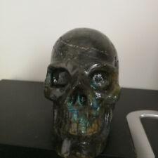 Natural Elongated stone carving of the crystal skull Healing AA05