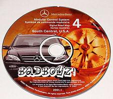 01 2002 MERCEDES ML320 ML430 ML55 NAVIGATION DISC CD S CENTRAL AR LA MS OK TN TX