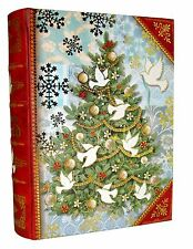 Punch Studio Nesting Book Box Christmas White Dove Tree Bird 51765 large mini