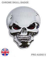Chrome Skull ala insignia de arranque del cuerpo-bicicleta auto van camión 4x4 Ford Opel VW UK