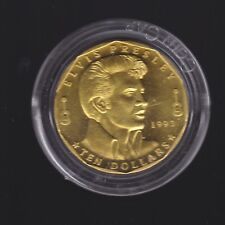 1993 MARSHALL ISLANDS $10 UNC Uncirculated Coin ELVIS PRESLEY G-809