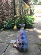 Lg Italian Aldo Londi Bitossi Pottery Lamp Fantoni Mid Century Picasso Lee Rosen