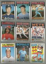 AWESOME lot of 500+ 1986 TOPPS  baseball cards with STARS and HALL of FAMERS!