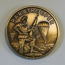 Paratrooper Airborne All The Way Army Challenge Coin