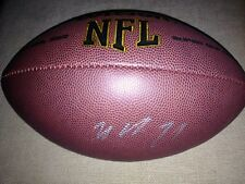 *MALCOLM BUTLER*SIGNED*AUTOGRAPHED*FOOTBALL*NEW ENGLAND*PATRIOTS*COA*