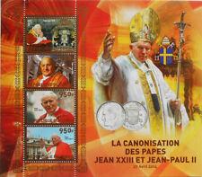 Congo Souvenir Sheet Famous People Postal Stamps