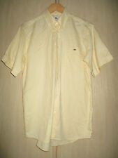 "mens LACOSTE YELLOW COTTON SHORT SLEEVE SHIRT SIZE 40"" CHEST"