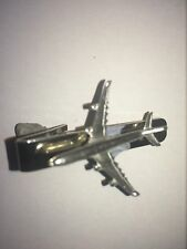 Emblem on a Tie Clip 4cm long Airbus A340 C68 Aircraft Jet English Pewter