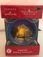 Lighted House Hallmark Thomas Kinkade Christmas Ornament Nos