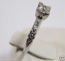 Antique Diamond Engagement Ring Platinum Ring Size 5.5 EGL USA Vintage Art Deco