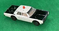 Hot Wheels Redline 1968 White Police Cruiser Vintage Rare!