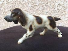 Porcelaine Chien de Chasse Julius Griesbach XXème Antique Porcelain Dog Figurine