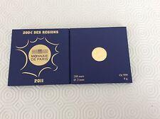 Coffret d'une pièce de 200 € en or BE France 2011 Régions de France