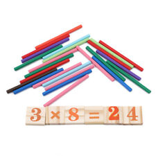 Kids Wooden Math Counting Blocks Sticks Educational Learning Abacus Toy Gift Z