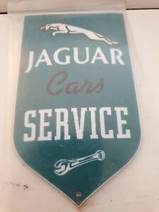 "Jaguar Service  Stove Enamel Sign Really Neat  5.5"" X 3.50 "" holed  New. No24"