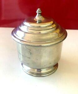 Stieff Williamsburg Restoration Pewter Sugar Bowl